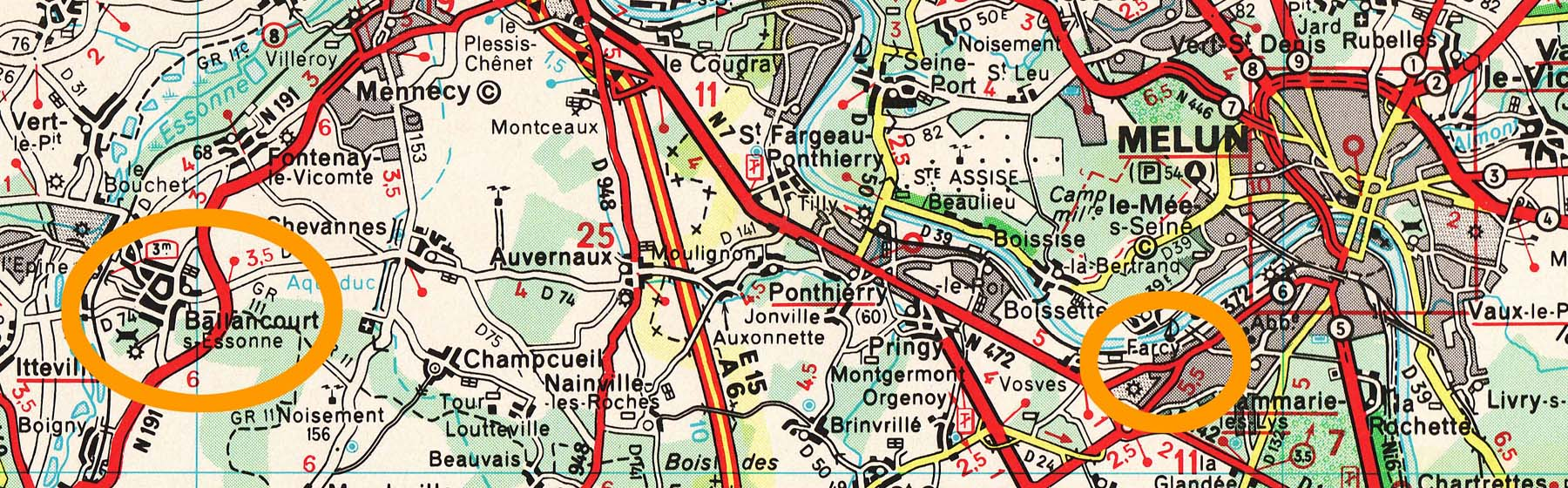 Map showing Farcy & Ballancourt