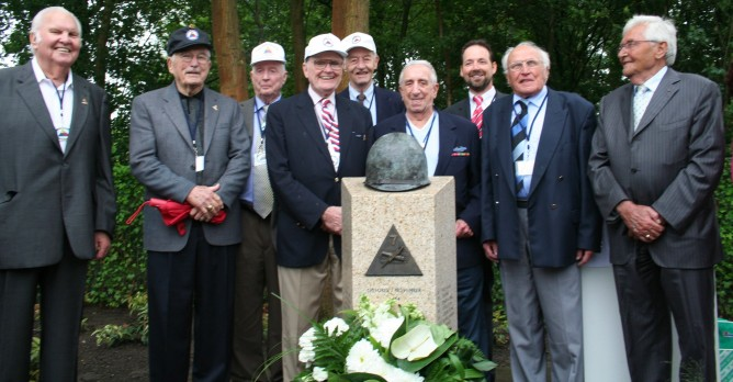 7th Armored Division Veterans at Ospel Monument Dedication