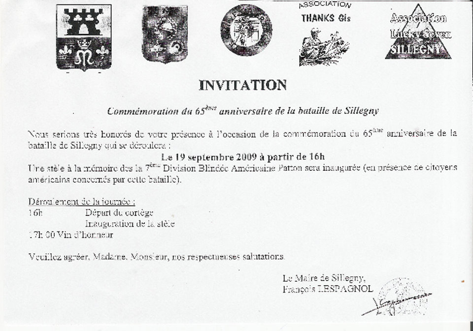 Sillegny Invitation